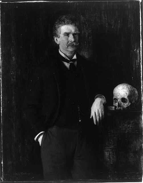 Ambrose Bierce by J.H.E. Partington. Courtesy of Library of Congress.