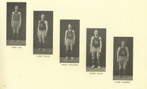 Some members of the Crawfordsville team. Image source: Crawfordsville High School yearbook for 1911.