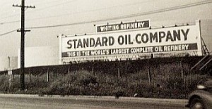 "Sign for Standard Oil which took over Sinclair in the late 1930s, photograph accessed http://www.pophistorydig.com/topics/tag/whiting-indiana-history/ ""Inferno"