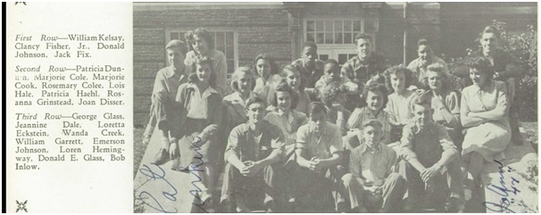 Garrett and a portion of his junior class, 1946. Image source: Shelbyville High School 1946 Yearbook