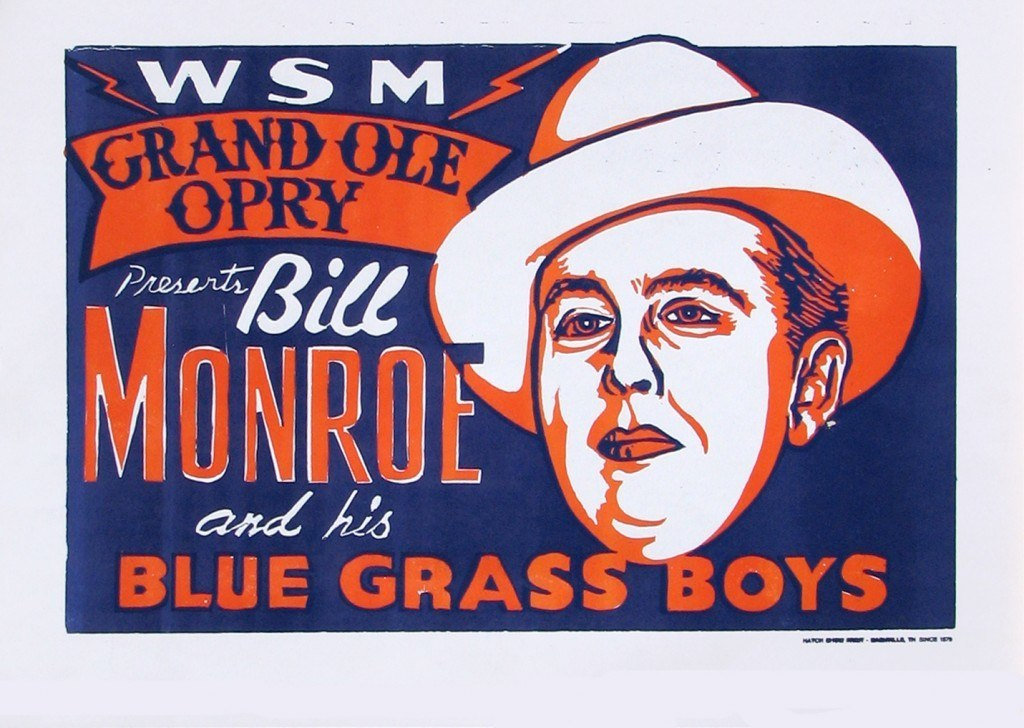 Hatch Show Print, circa 1940s, Country Music Hall of Fame, image accessed http://www.wideopencountry.com/15-countrys-coolest-concert-posters/
