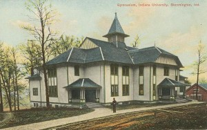 Indiana University's original Assembly Hall hosted the state tournament in 1911. Image credit: http://purl.dlib.indiana.edu/iudl/archives/photos/P0020435