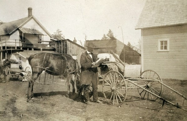Surveyor Jasper Sherman Bilby on assignement in Minnesota, 1903. Courtesy of NOAA.