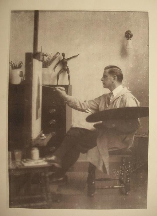 George Brehm easel