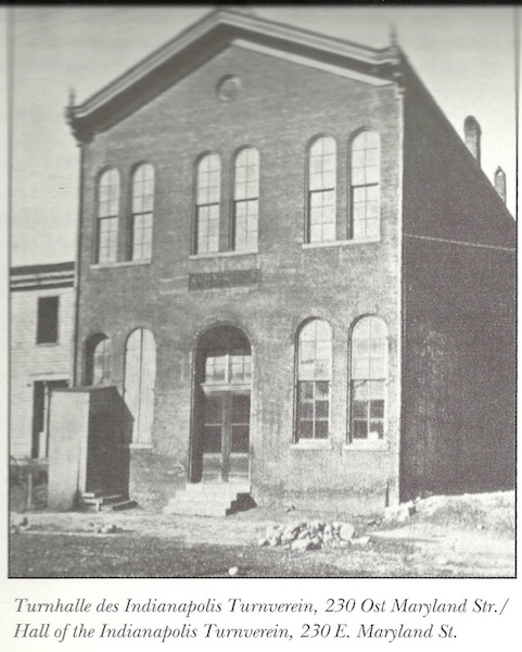 The Socialer Turnverein, a social club co-founded by Vonnegut, was the home of the Freethinker Society of Indianapolis. Image Courtesy of IUPUI University Library, Special Collections and Archives.