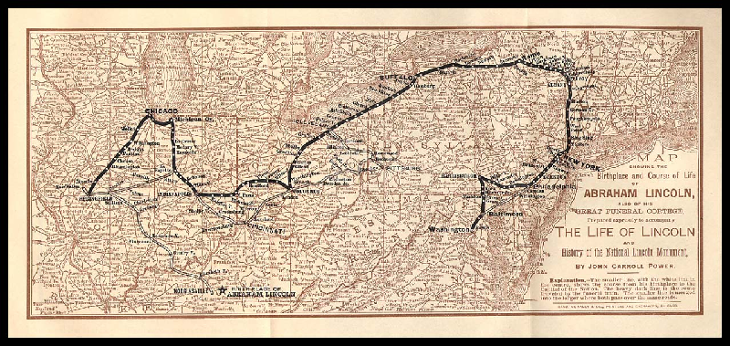 map to Lincoln