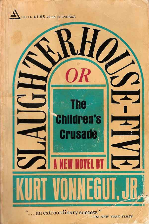 Slaughterhouse-Five (1969) would become Vonnegut's most well known novel. Its open understanding of the barbarity of war, coupled with many humanist themes, continues to enthrall readers. Courtesy of In These Times.