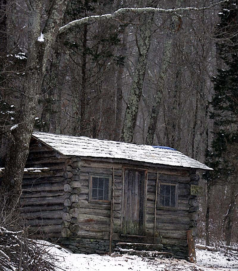 "Richard Telford, ""Edwin Way Teale's writing cabin at Trail Wood,"" photograph, 2014, accessed Connecticut Audubon Society, http://www.ctaudubon.org/2014/01/trail-woods-artistwriter-in-residence-program/#sthash.4EEwoBKM.dpbs"
