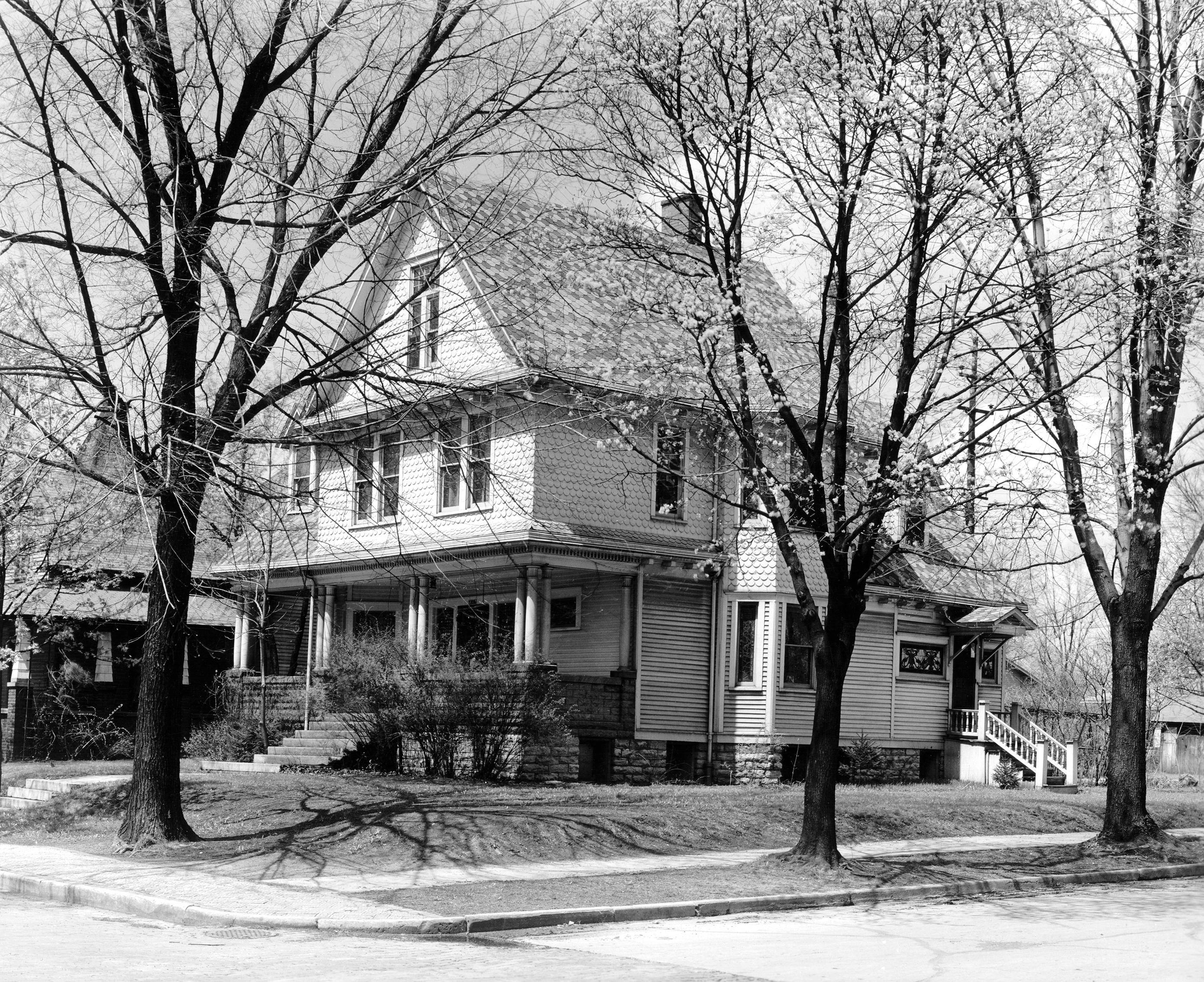 Wendell Willkie's childhood home in Elwood, Indiana. Image courtesy of Indiana Memory.