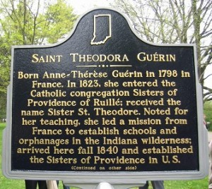 The Indiana Historical Bureau and Sisters of Providence of Saint Mary-of-the-Woods installed a marker honoring Guerin in 2009.