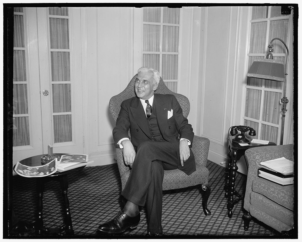 Indiana Govenor Paul V. McNutt, circa 1937. Image courtesy of the Library of Congress.