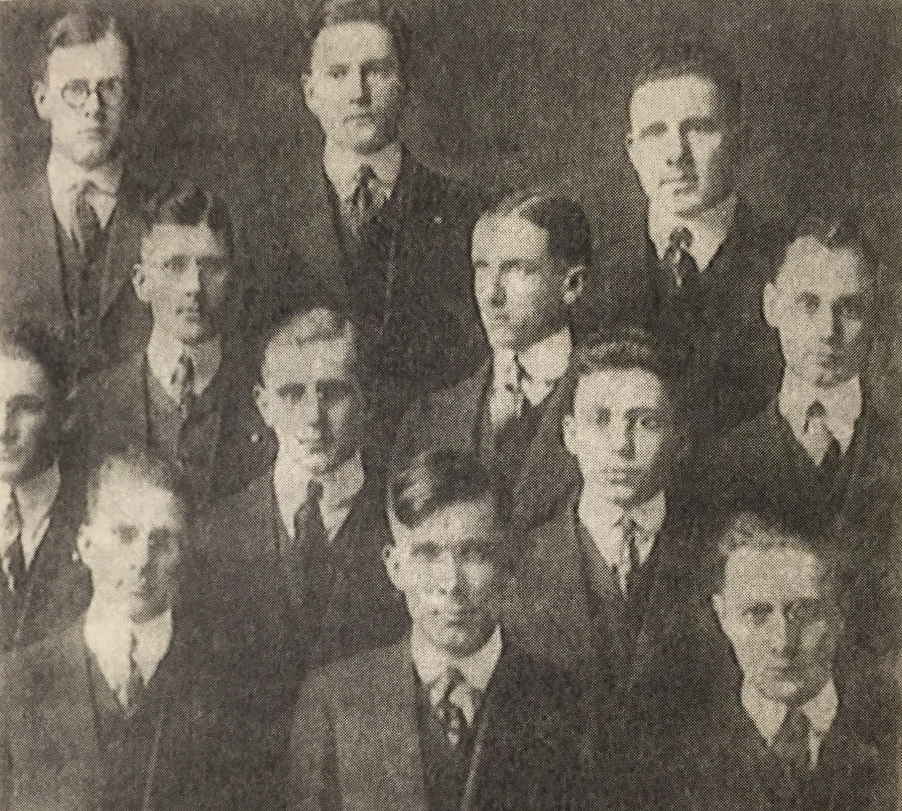 The IU Debate Team, 1916. Willkie is front row, center. Image courtesy of Indiana University, Bloomington.