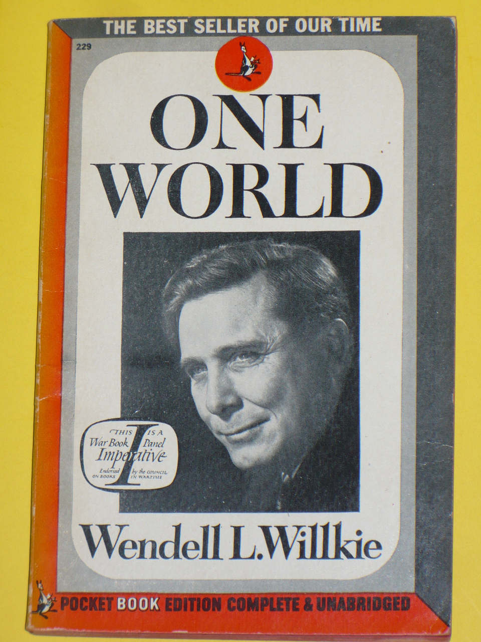 One World by Wendell Willkie. Image courtesy of Doerbooks.com.