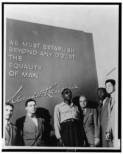 African American veteran Isaac Woodard at the Wendell Willkie memorial building in New York, circa 1946. Image courtesy of the Library of Congress.