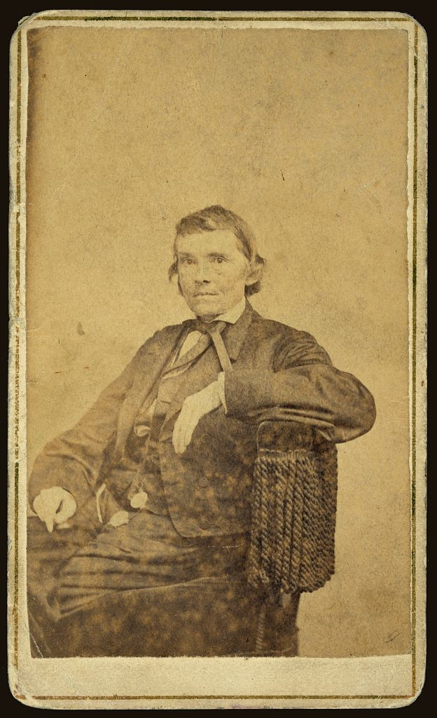 "Alexander Stephens, circa 1860s. A congressman from Georgia, Stephens helped English craft the ""English Bill"" that would later ensure that Kansas as a free state. Today, he is best remembered for being the Vice-President of the Confederacy during the Civil War. Courtesy of the Library of Congress."