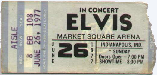 Elvis 1977-june-26-ticket- Elvis Presley Music AU