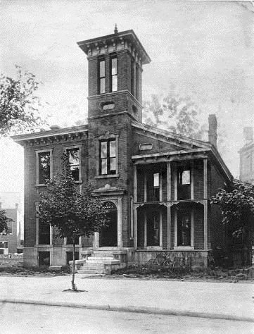 The English family home on Circle Street, Indianapolis, 1870s. English lived in Indianapolis for most of his adult life, occasionally visiting his home in Scott County. Courtesy of Indiana Historical Society.
