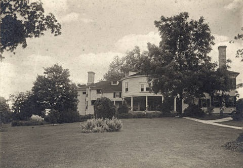 The English family home in Englishton Park, Lexington, Scott County, Indiana, circa 1900. English lived here for many years with his family until his time in the Indiana House brought him to Indianapolis. An IHB marker for English is at this location. Courtesy of Indiana Historical Society.