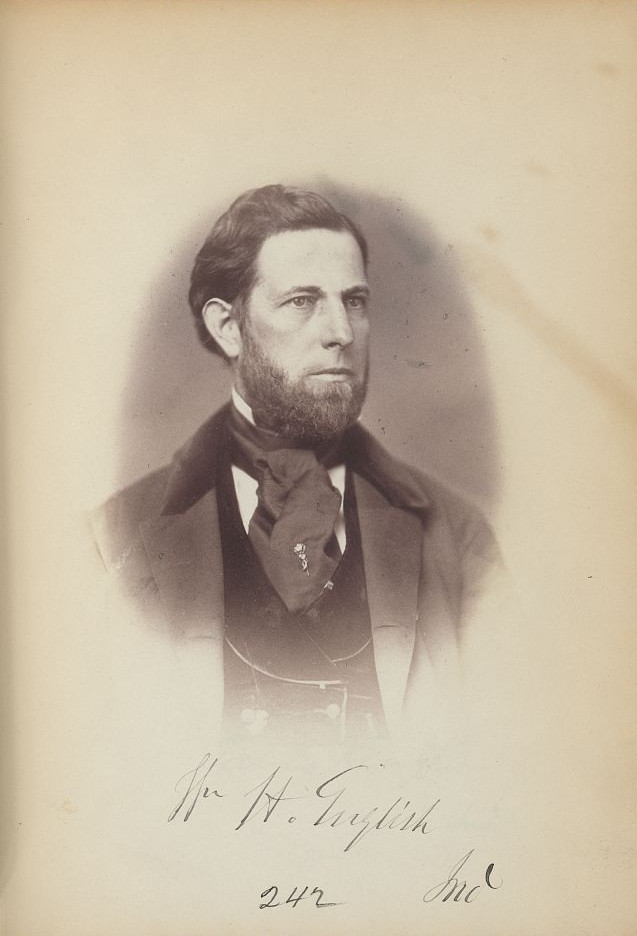 William English's officialt Congressional Portrait, 1859. Courtesy of the Library of Congress.