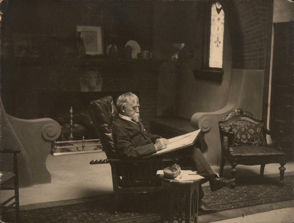 General Wallace in his study, 1899. Courtesy of the General Lew Wallace Study and Museum.