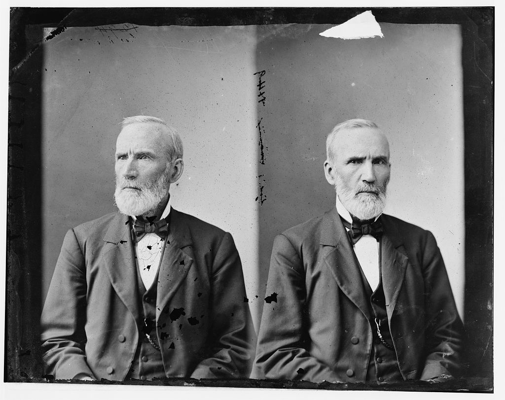 """Julian, Rep. Hon. George Washington of Indiana,"" glass negative, circa 1865-1880, Library of Congress Prints and Photographs Division, accessed http://www.loc.gov/pictures/item/brh2003001974/PP/"
