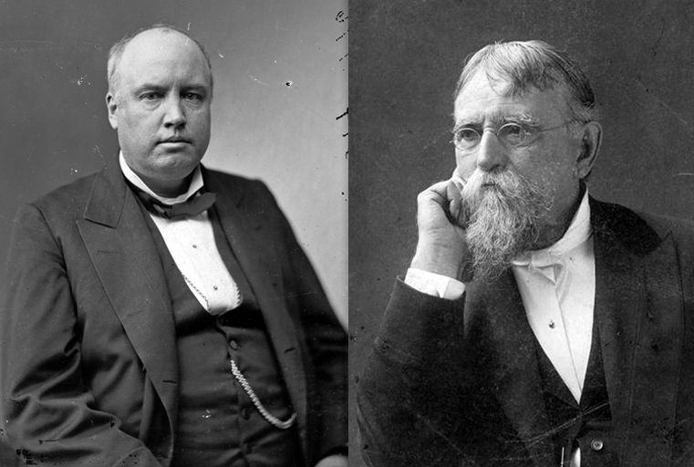 Robert Ingersoll (Left) and Lew Wallace (Right). Courtesy of the Library of Congress and Literary History Blog.