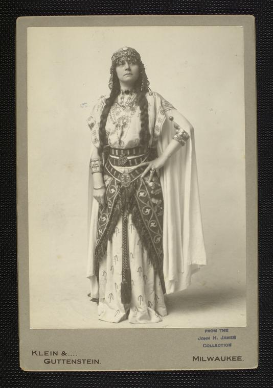 Mabel Bert in costume for theatrical production of Ben-Hur. Courtesy of the Digital Public Library of America.
