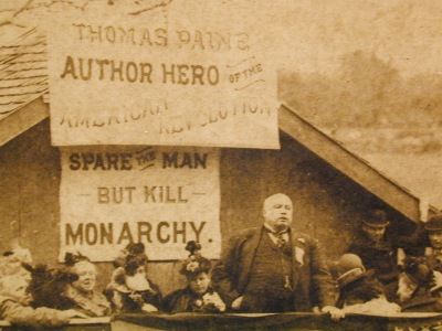 Robert Ingersoll addressing an audience in New Rochelle, New York, May 30, 1894. Courtesy of the Council for Secular Humanism.