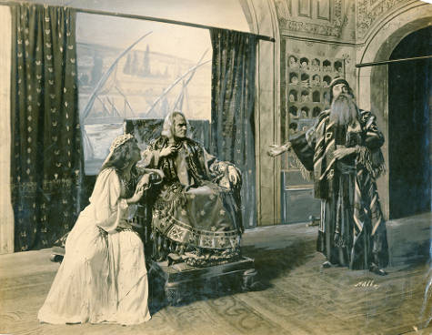 An example of the final scene from the theatrical version of Ben-Hur, which opened at the Grand Opera House, Seattle, on Oct. 9, 1905. Courtesy of the University of Washington.