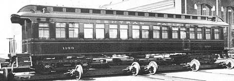 An example of a passenger rail car, circa 1870s. Image courtesy of Trainweb.org.