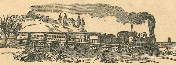 Bee Line Train, Bellefontaine Railway 1864