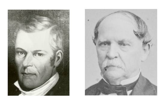 Indiana Governor James B Ray and Wall Street financier James F. D. Lanier