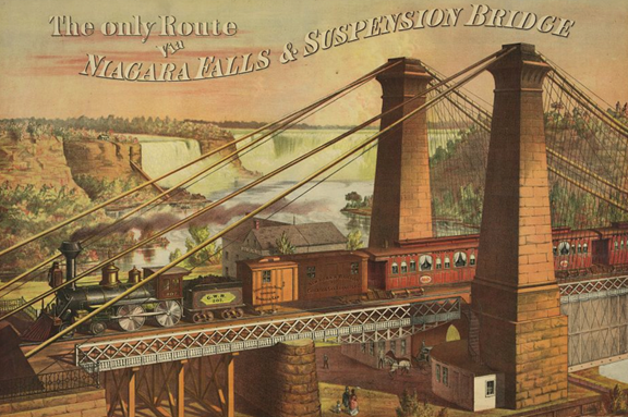 image of Niagara Railway Suspension Bridge, c1876