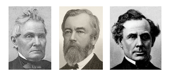 Images of David Kilgore, Thomas A. Morris, and Stillman Witt