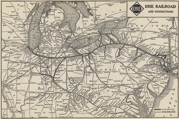 Route Map of the Erie Railroad 1930
