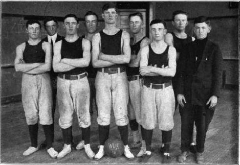 74e888d84c Front row: Leland Olin, Jesse Graves, Homer Stonebraker, Lee Sinclair, and  Lawrence Sheaffer (mgr.). Back row: Coach Jesse Wood, John Blacker, Forest  Crane, ...