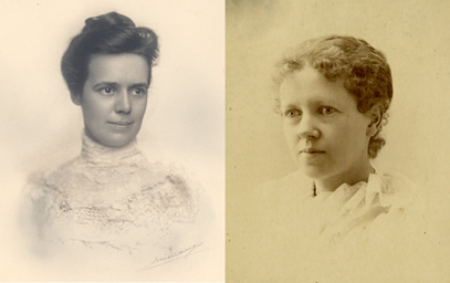 Bertha Crosley Ball, around 1900 and Sarah Rogers Ball, around 1890