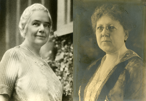 Bertha Crosley Ball, mid-1930s and Sarah Rogers Ball, around 1917