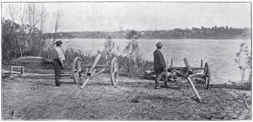 Stove-pipe Battery at Capture of Newburg