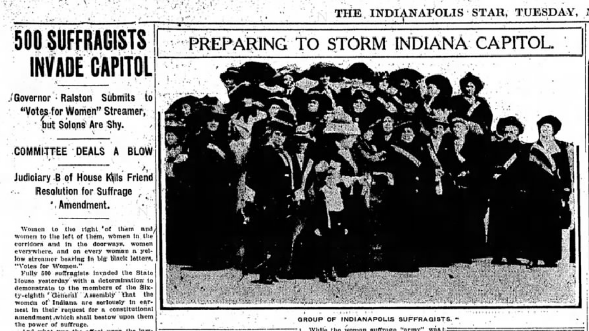 A Silent Roar: Indiana Suffragists' 1913 March to the Statehouse