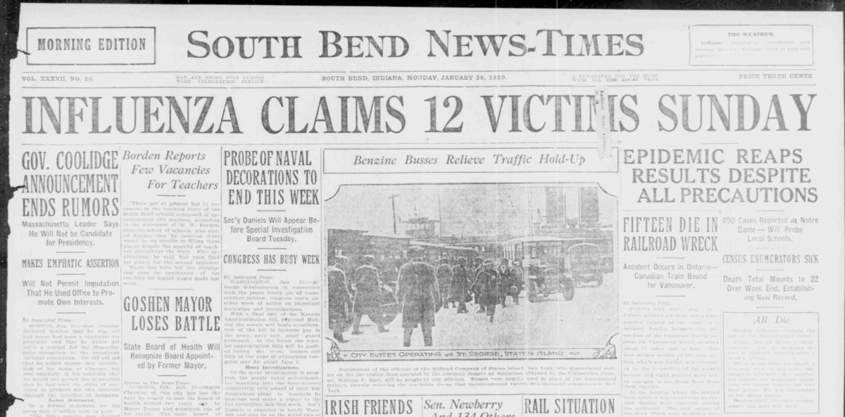 Overcoming South Bend's Influenza Outbreak to Enumerate the 1920 Census